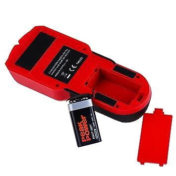 Detector de Multifunción con Pantalla LCD Detector de cables eléctricos, objetos metálicos, tuberías ocultas , madera Detector De Pared FOLAI: Amazon.es: ...