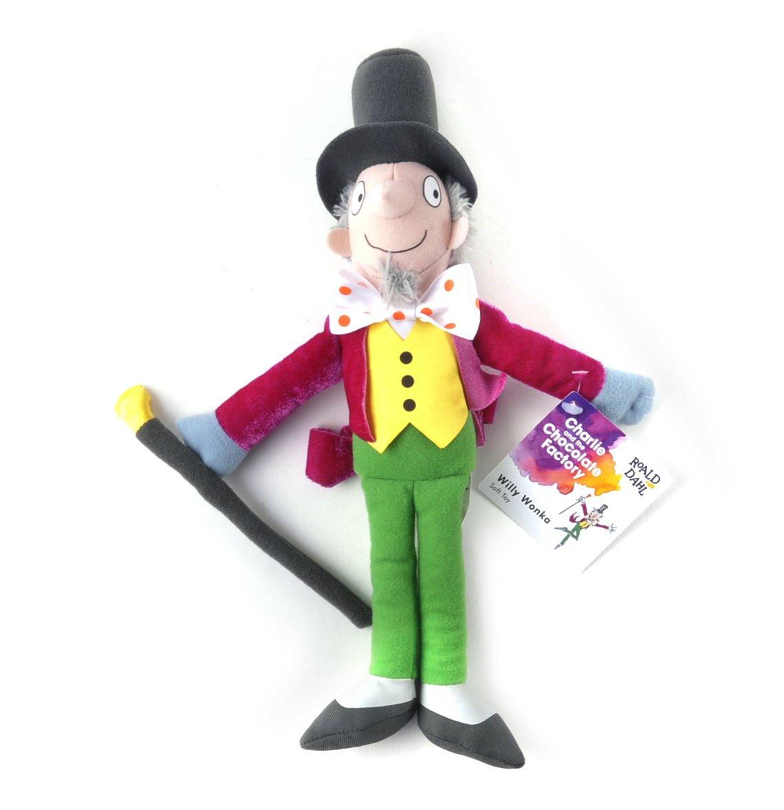 amazon com roald dahl willy wonka soft toy by rainbow designs