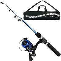 Fishing Spinning Rod, Reel, Free Travelling Bag (6 Feet/180cm)
