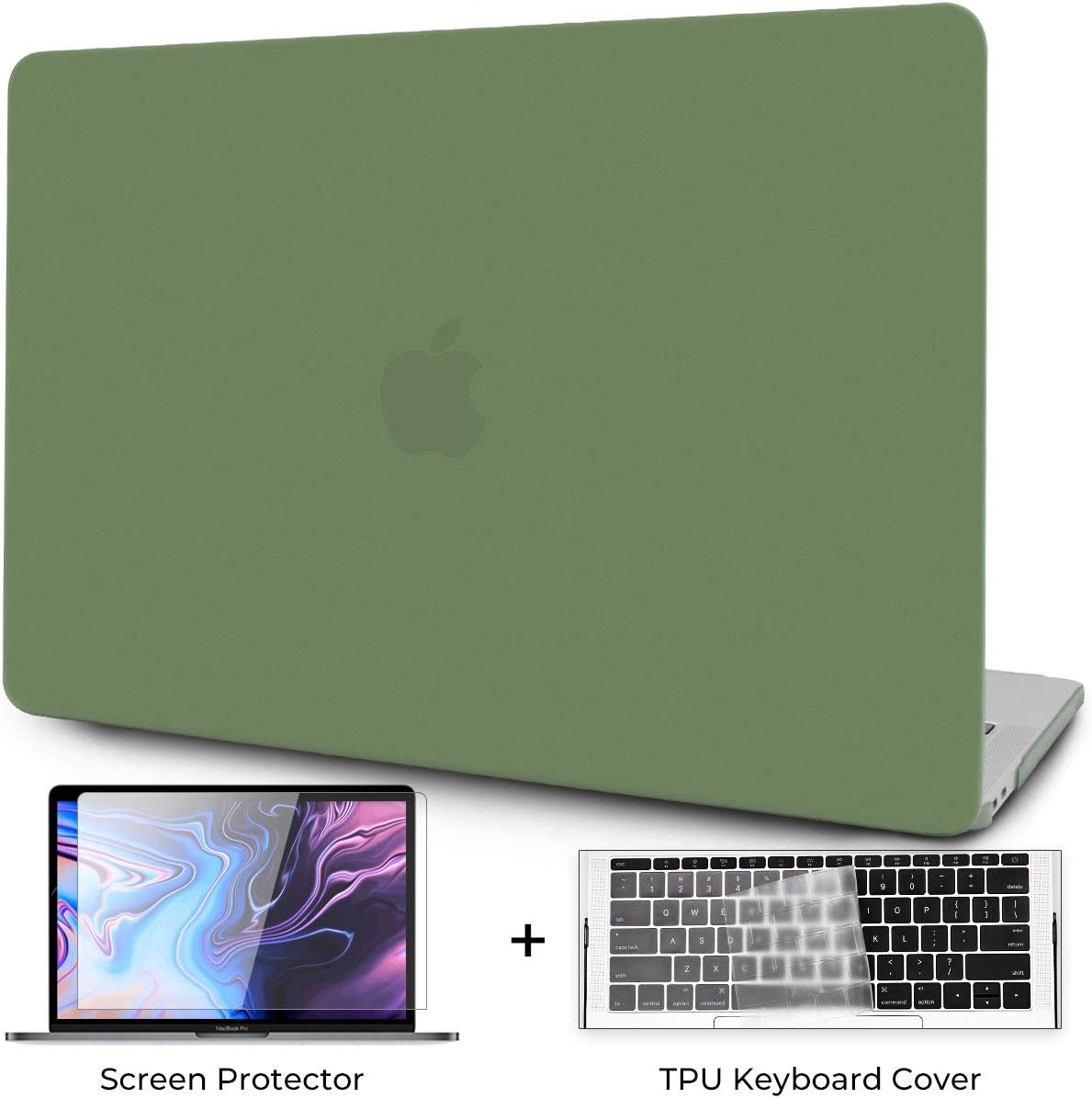 OneGET MacBook Pro 13 Inch Case with Touch Bar Laptop Case MacBook Pro13 2016-2019 Release A1989 A1706 A1708 A2159 Minimalist Thin Matte PP Hard Shell Cover for Pro13 with Touch Bar (Dark Green)