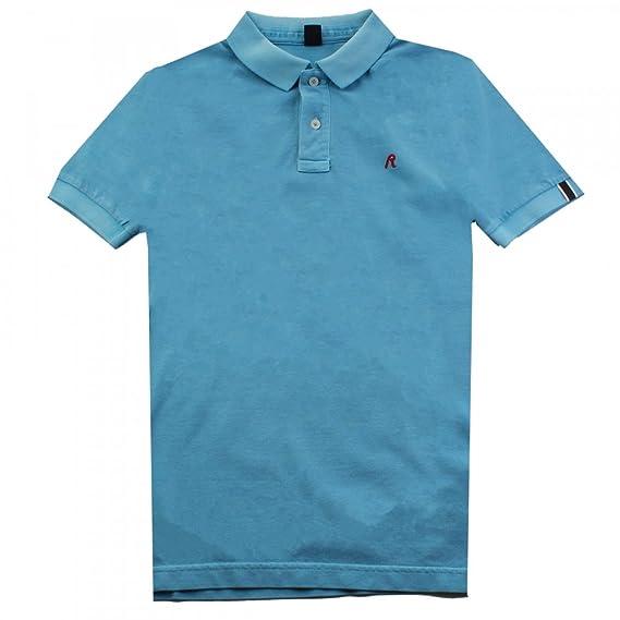 Replay Ropa de Replay teñido camisa polo de pique para hombre ...
