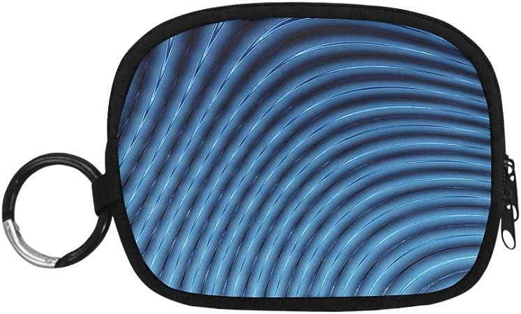 Monederos Abstractos 3D líneas Azules licuadora Monedero ...