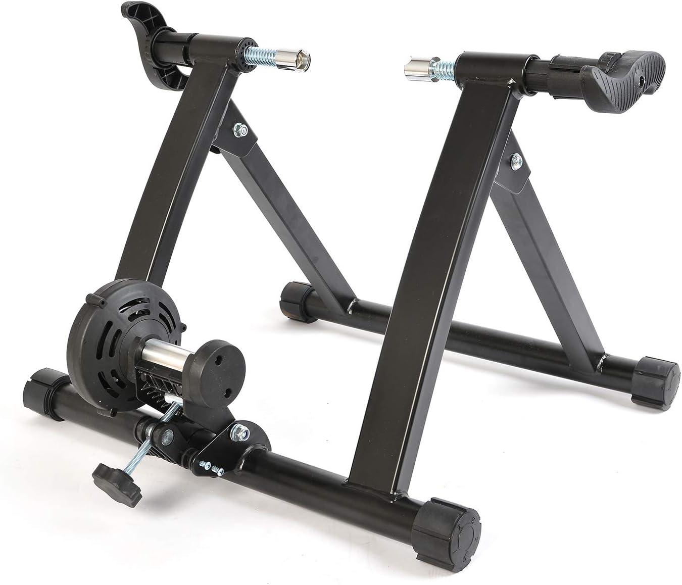 ROCKBROS Home Trainer de VTT Vélo Route pour Roue 26-28 Pouces 700C, Entraîneur Pliable en Aluminium, Capacité de Charge 130KG, Double Verrouillage Modèle Fil/ sans Fil
