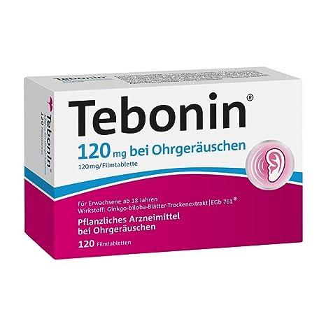 Tebonin 120 mg comprimidos con revestimiento de película para realizar llamadas orejas 120 tabletas