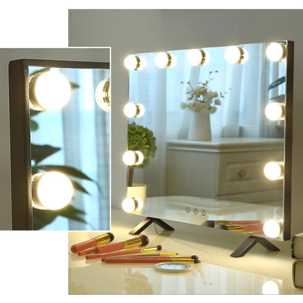 YANZHEN Spiegel Desktop-Hollywood-Plug-In-Power-Typ LED-Lampe Ultra-Clear Füllen Licht Rechteck Rechteck Rechteck Eisen, 2 Farben (Farbe   Weiß, größe   48x2.5x43cm) c729e9