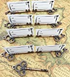 40pcs Antique Skeleton Key Shaped Wedding Favor Rustic Decoration Photo Holder Key to Your Heart