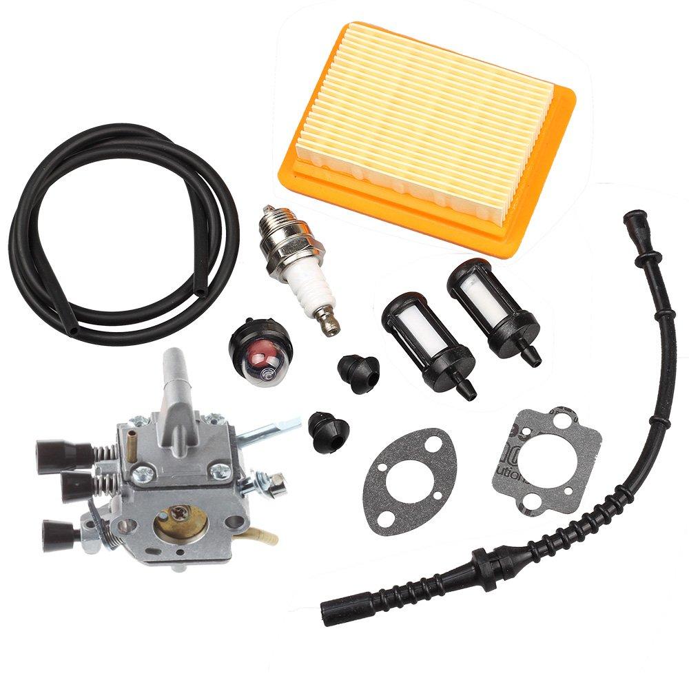 HIPA Carburetor with Air Filter Primer Bulb Fuel Repower Kit for STIHL FS120 FS200 FS250 FS300 FS350 FR350 FR450 FR480 String Trimmer