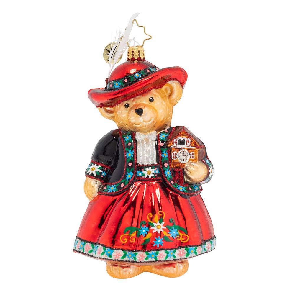 Christopher Radko Time for Tea Muffy Christmas Ornament, Red
