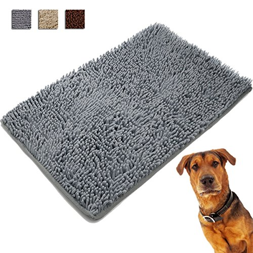 Petreasure Thick Chenille Absorbent Dog Door Mat Microfiber Washable Durable Dirty Dog Doormat(27.6