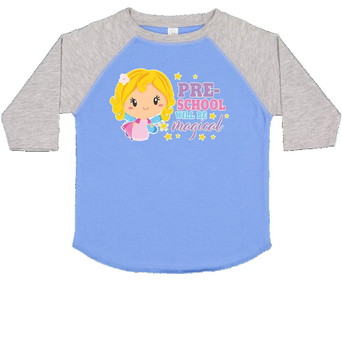 inktastic Preschool Will Be Magical with Blonde Haired Fairy Toddler T-Shirt