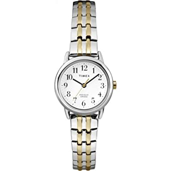 d6fe0193a Amazon.com: Timex Women's T2P298 Easy Reader Dress Two-Tone Stainless Steel Expansion  Band Watch: Timex: Watches