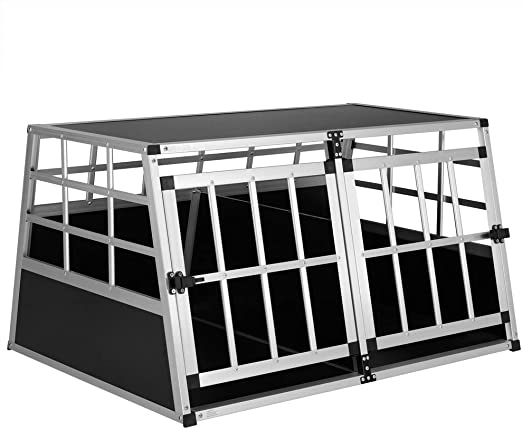 Cadoca Transportín Talla XL para Perros y Mascotas Caja Jaula de Transporte Viaje de Aluminio para Coche avión: Amazon.es: Productos para mascotas