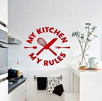Amazon.com: liubeiniubi My Kitchen My Rules Wall Decal ...