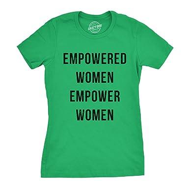 49ca16c2 Womens Empowered Women Empower Women T-Shirt Cool Feminism Girl Power Tee:  Amazon.co.uk: Clothing