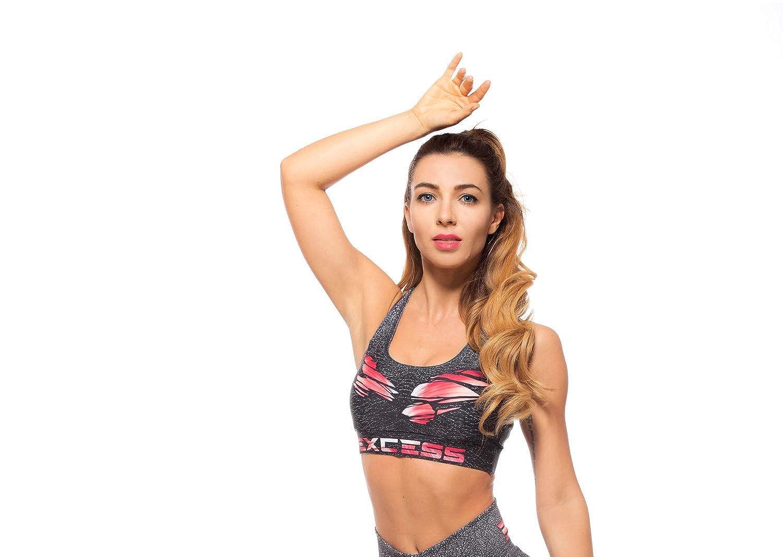 Excess Sujetador Deportivo para Mujer Shock Absorber Top Push Up ...