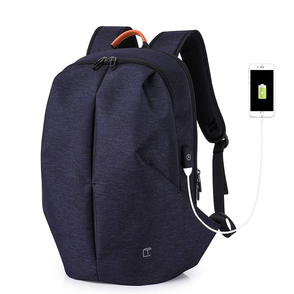 スタイリッシュな大容量のバックパック外部USB充電バックパックメンズコンピュータバッグ防水アウトドアライディングバッグレジャートラベルバッグショルダーバッグ盗難防止/ 20L 絶妙 (色 : 青) 青