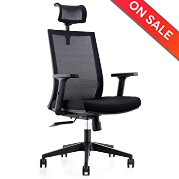 CMO High Back Mesh Ergonomic 360 Swivel Office Computer Chair With  Adjustable Headrest And Flexible Arm