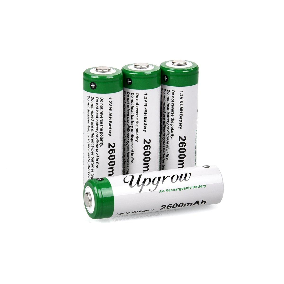 1,2/V Upgrow Batterie AAA ricaricabili Ni-MH con scatola 16x AA 2600mah 1000/mAh