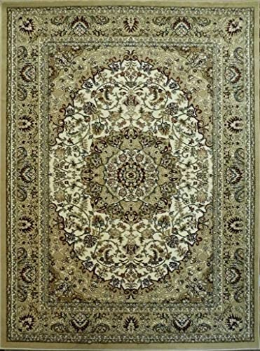 Bellagio Traditional Area Rug Design 401 Beige 6 Feet X 9 Feet