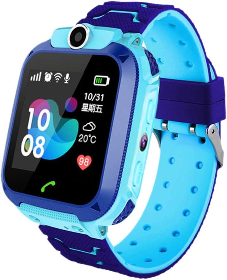 iYoung Localizador GPS Niños, Tarjeta SIM 2G con SOS Anti-Lost Alarm para Tarjeta Pantalla Táctil Smartwatch para Años De Edad Regalo De Cumpleaños Niños Niñas (Blue,Pink)