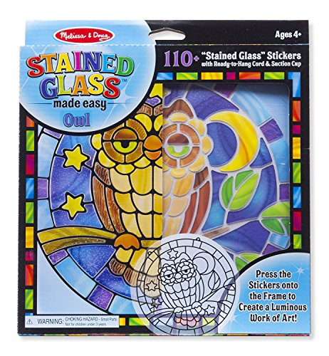 Melissa & Doug Stained Glass Made Easy Craft Kit: Owl - 110+ Stickers