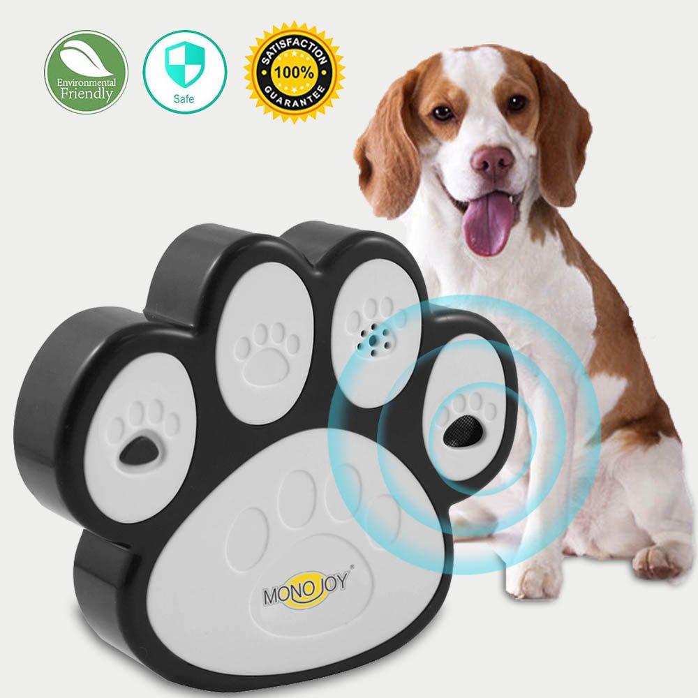 MONOJOY Ultrasonic Dog Bark Deterrent, [ Newest Generation ] Sonic Bark Control Indoor Outdoor Bark Controller, Dog Anti Barking Device Stop Barking Dogs Silencer Bark Breaker, Safety, Friendly