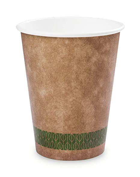 Plantvibes 50 Eco Friendly Coffee To Go Cups 200ml 8oz Disposable Sustainable 100 Compostable And No Unhealthy Chemicals Mug For Hot