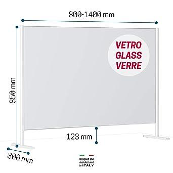 Novellini BeSafe Wall V2 Mamparas Para Oficinas De Vidrio Transparente 6mm Mampara Mostrador Mamparas Proteccion Mostrador Mampara Protectora Mostrador Mampara Proteccion Mostrador Pantalla Mostrador: Amazon.es: Industria, empresas y ciencia