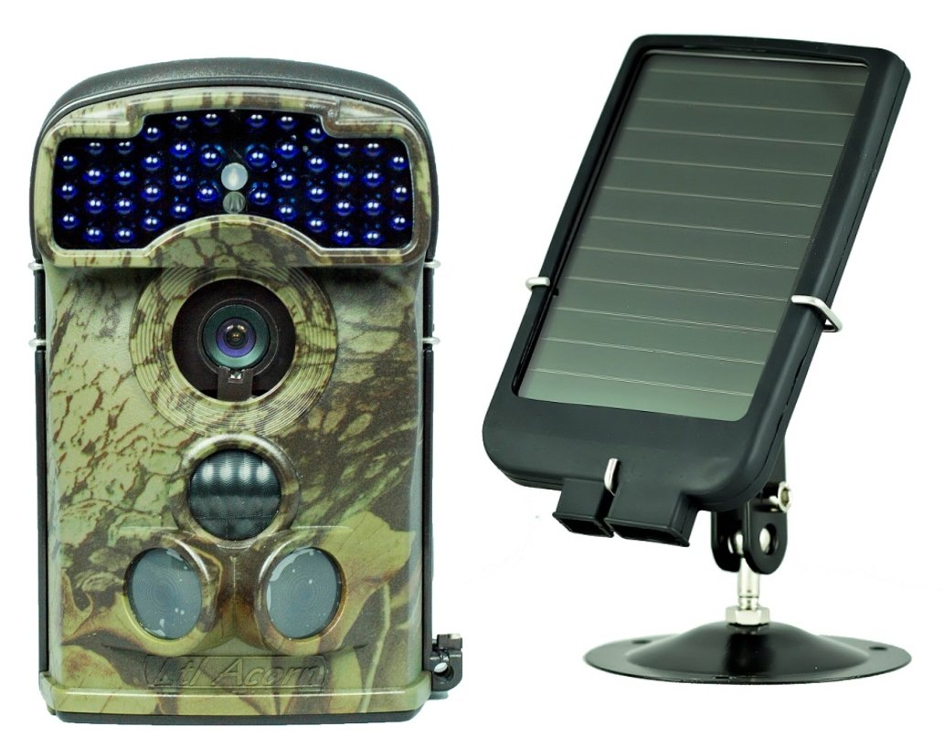 Ltl Acorn 5310WMC Wide Angle Surveillance IP54 Waterproof Digital Activated Camera + Solar Panel Charger by Ltl Acorn