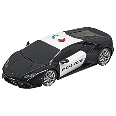 Carrera USA 20030854 Lamborghini Huracán Police Car 1:32 Scale Digital 132 Slot Racing Vehicle, Black/White: Toys & Games