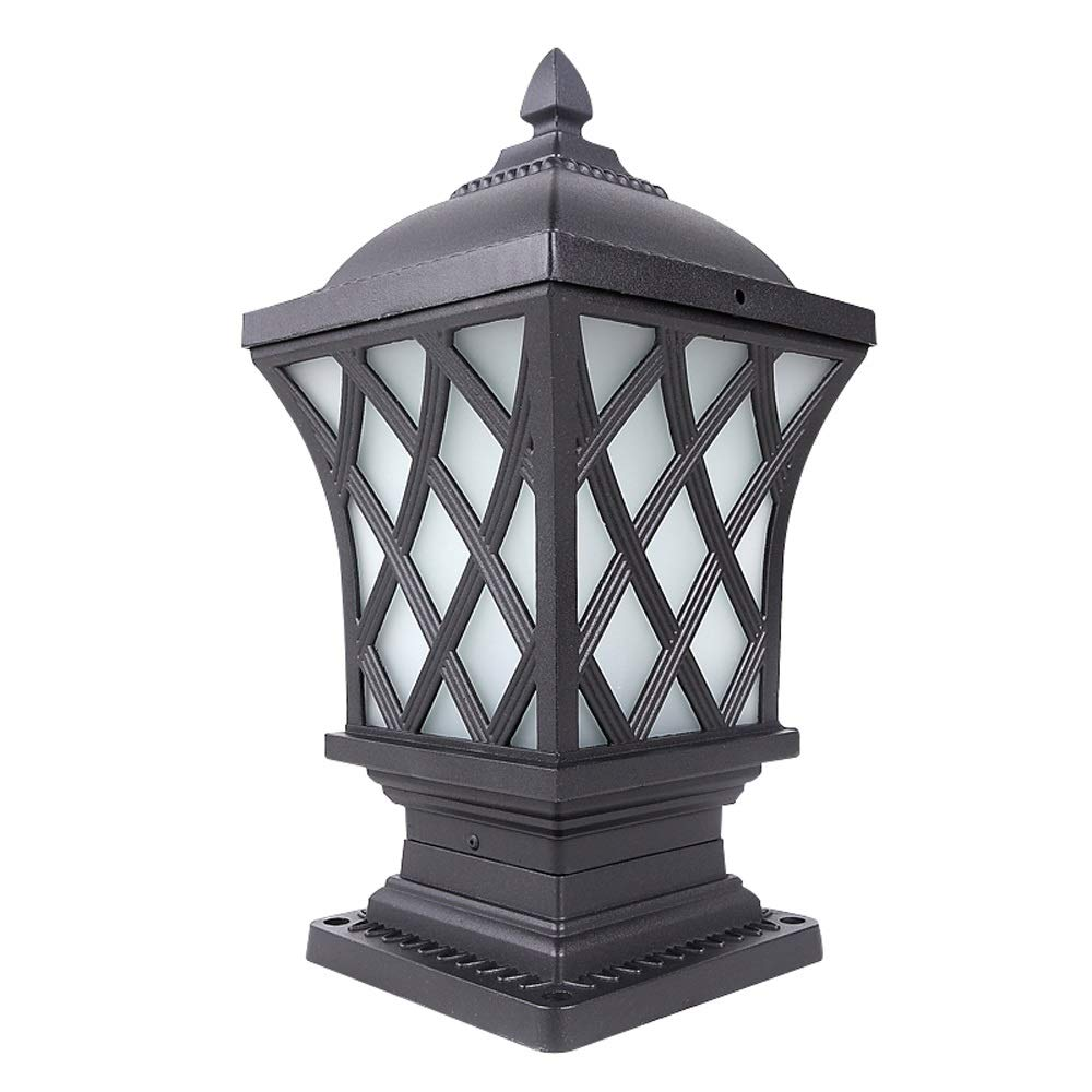LifeX IP65 Waterproof Column Lamp Fence Wall Light Home Garden Lawn Lighting Fixture Outdoor Villa Street Lamp Balcony E27 Base Rope Lights for Patio Balcony Foreyard (Size : L)