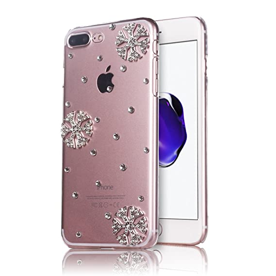 snowflake iphone 7 plus case for christmas mini factory bling crystal clear rhinestone snowflake