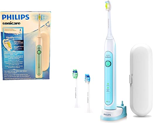 Philips Sonicare HealthyWhiteDiamondclean Series 4 HX671311 2019 Rechargeable Battery Powered Sonic Dental Toothbrush Includes Travel Case and 2X
