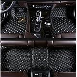 Gallop All Weather Protection Waterproof 3 Piece Full Set Floor Mats Leather Floor Liners Custom Fit Floor Carpets for Jeep Wrangler 2008-2016 2 doors (Black)
