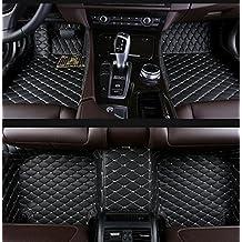 Gallop All Weather Protection Waterproof 3 Piece Full Set Floor Mats Leather Floor Liners Custom Fit Floor Carpets for Jeep Wrangler 2008-2016 4 doors (Black)