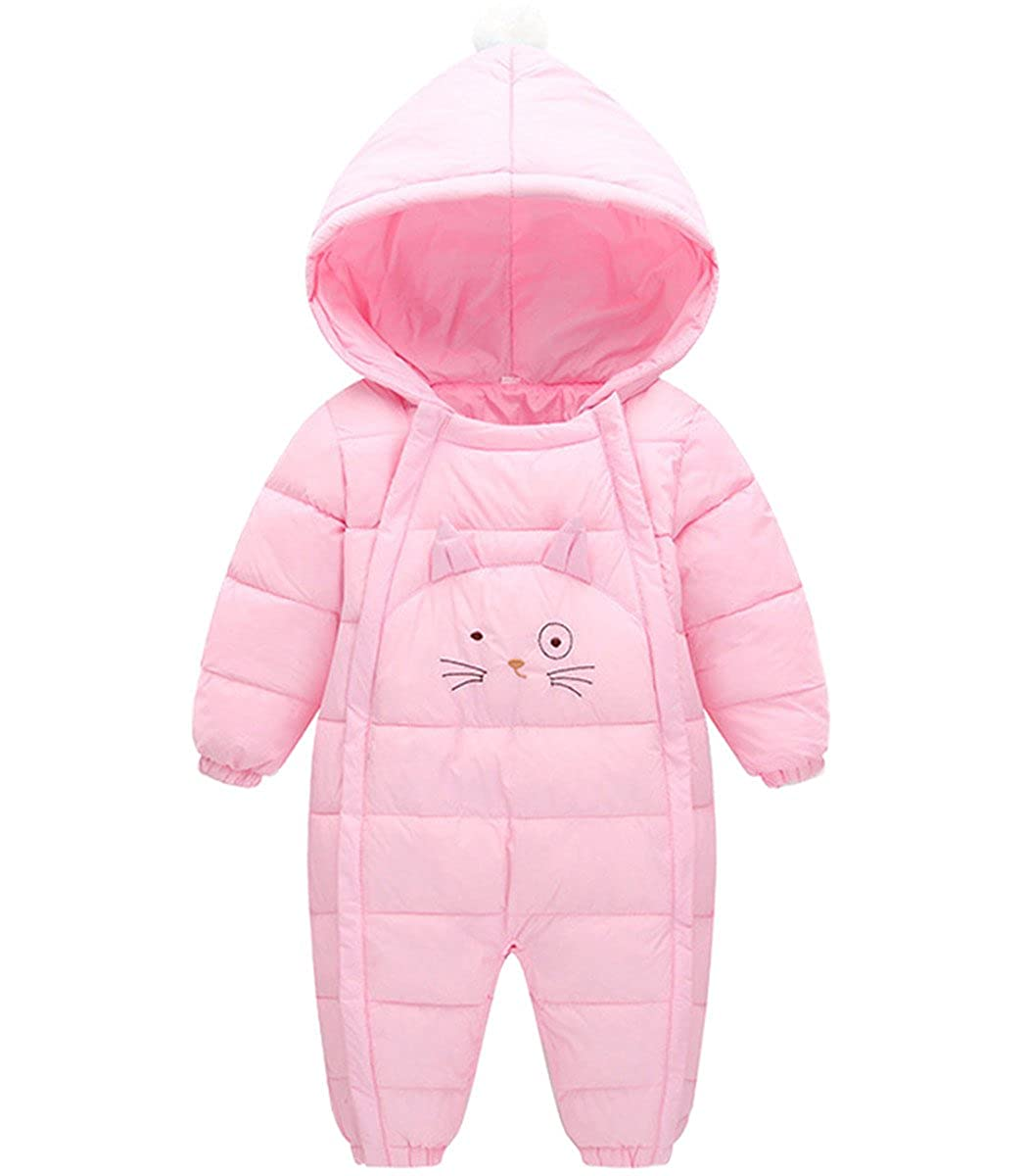 Baby Girls Boys One Piece Cute Cat Winter Down Jacket Romper Jumpsuit SSownsuitybnj731