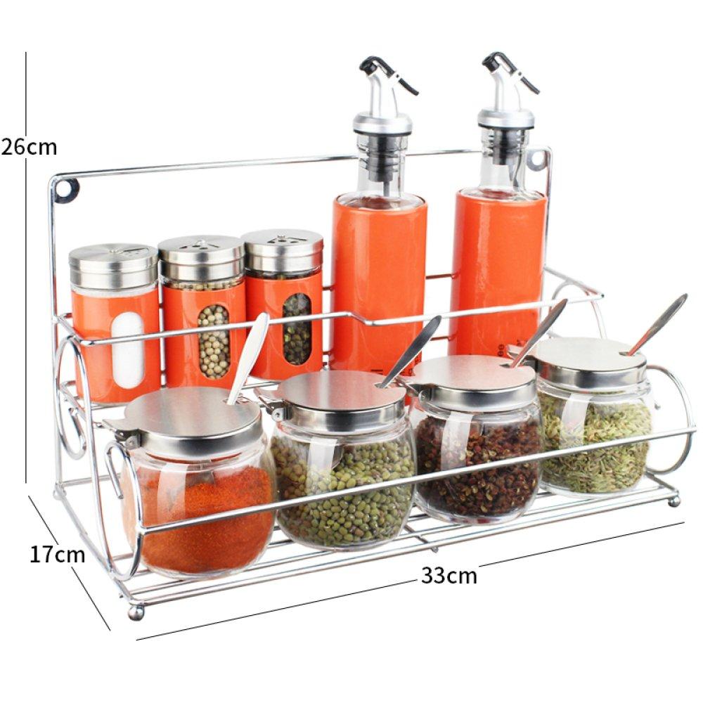 WZBL Set Di Scatole Per Condimenti Bottiglia Per Condimento Di Vetro Vasetto Per Condimenti Pentola Per Oliera Vasetto Per Aceto Sigillato Accessori Per La Cucina, F HZLJ