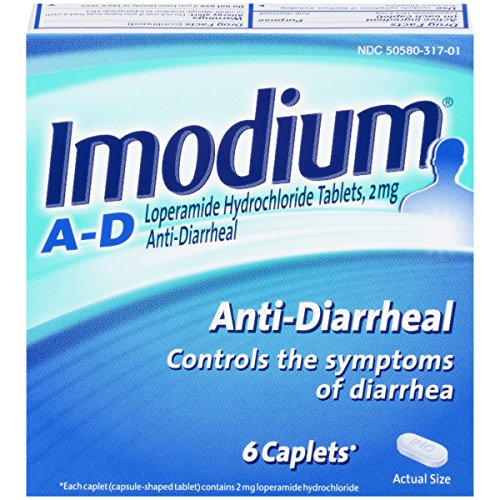 Imodium A-D Anti-Diarrheal Caplets, 6 Count