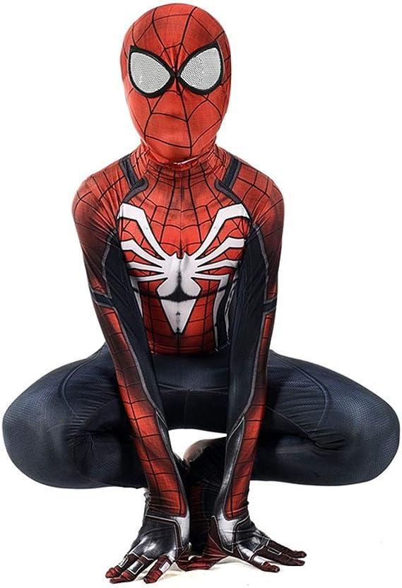 Niños adultos superhéroe Spiderman Cosplay Traje Disfraz PS4 Los ...