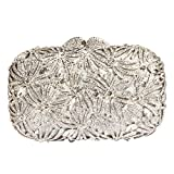 Digabi Fireworks Pattern Women Crystal Evening Clutch Bags (One Size : 6.94.52.4 IN, white crystal - silver plated)