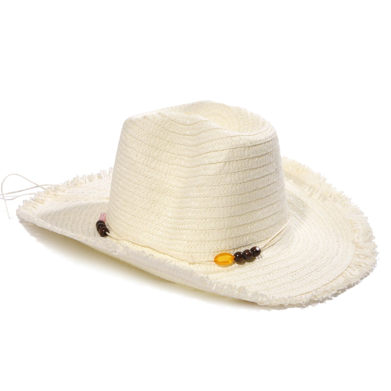 492fbd9eb9c0b Ladies Summer Sun Trilby Straw Hat with Beaded Detailing