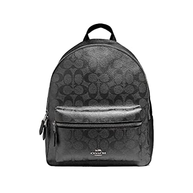 5b86de9522fe Amazon.com  Coach Medium Charlie Signature Leather Backpack ...