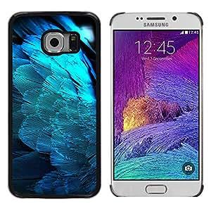 Paccase / Dura PC Caso Funda Carcasa de Protección para - Feathers Blue Light Angel Wings Spiritual Bird - Samsung Galaxy S6 EDGE SM-G925