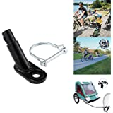 FreeLeben Bike Trailer Hitch Coupler Bicycle Trailer Steel Coupler Attachment for Child and Cargo