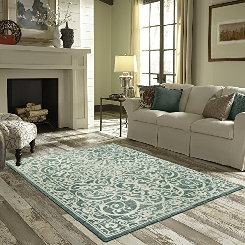 Maples Rugs Pelham 5 x 7 Large Area Rugs [Made in USA] for Living, Bedroom, and Dining Room, Light Spa (Renewed)