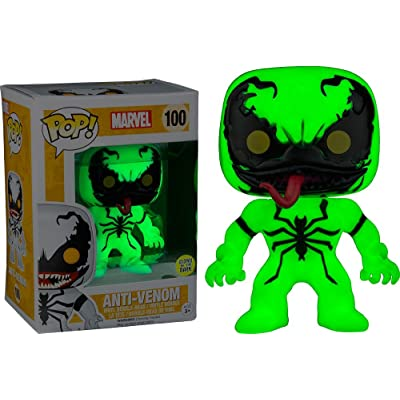 Funko POP! Marvel Anti-Venom Glow in the Dark Exclusive #100 GITD: Toys & Games