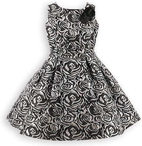 [スポンサー プロダクト][キャサリンコテージ] 発表会 結婚式 七五三 フォーマル 子供 ドレス ローズ織りジャガード ドレス PC631 TAK