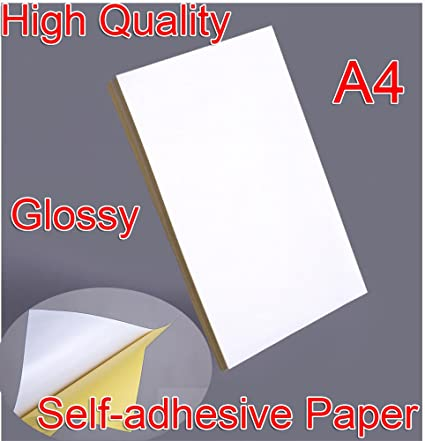 High Quality 21x29cm A4 White Glossy Self-adhesive Sticker Sticky Back  Label Printing Paper Sheet Inkjet Laser Printer Graphic Labels Logistics  Labels
