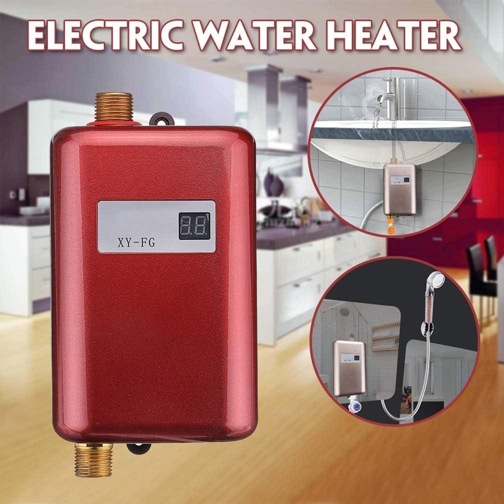 affichage num/érique LCD r/étro-/éclair/é avec pommeau de douche,Black chauffe-eau sans r/éservoir 3KW Chauffe-eau instantan/é /électrique