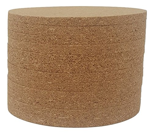 Noe amp Malu Cork Coasters  4quot x 4quot  1/4 Thick  Flat Edges  Pack of 12